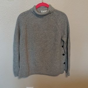 H &M knitted grey sweater size small
